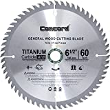 Concord Blades WCB0650T060HP 6-1/2-Inch 60 Teeth TCT General Purpose Hard and Soft Wood Saw Blade