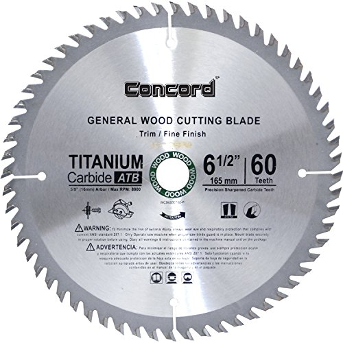 Concord Blades WCB0650T060HP 6-1/2-Inch 60 Teeth TCT General