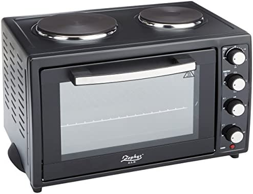 ZEPHYR Z-1441-S - Mini tostadora eléctrica para horno con placas ...