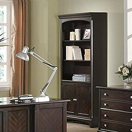 Delicieux Amazon.com: Coaster Home Furnishings Garson Bookcase With Storage Cabinet  Base Cappuccino: Kitchen U0026 Dining