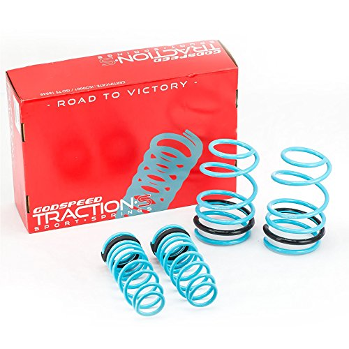 Godspeed(LS-TS-TA-0003) Traction-S Performance Lowering Springs, Set of 4, Toyota Corolla (Corolla Lowering Springs)