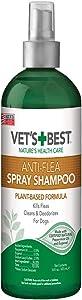Vet's Best Anti-Flea Spray Dog Shampoo. 16 oz, USA Made, Green