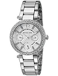 Michael Kors Women's MK5615 Mini Parker Analog Display Analog Quartz Silver Watch