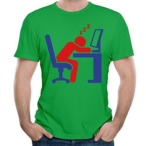 Ren YaXin Customized Silhouette Man Sleeping ( 2c)++2013 T Shirts For Men 100% Cotton Short Sleeve KellyGreen
