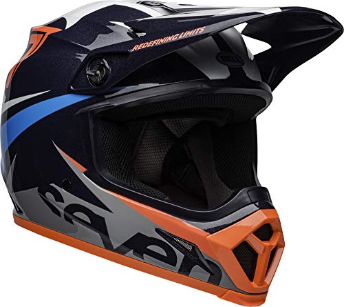 Bell MX-9 MIPS Off-Road Motorcycle Helmet (Seven Ignite Gloss Navy/Coral, X-Large) ()