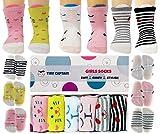 Tiny Captain Baby Girls Socks Anti Slip Cat Grip Sock Gift for 1-3 Year Old Girl, Non Skid Best...