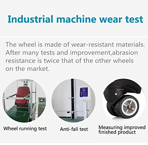 TuhooMall Luggage Wheels Replacement 360 Degree Swivel Caster Wheel Outdoor Luggage Travel Suitcase Replacement Wheel for Luggage Suitcase Trolley 1 Pair