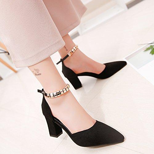Des Shoes Femmes Baotou D'Épaisseur Chaussures EU39 Président SHOESHAOGE Heel Étudiant Romaine Avec L'High Chaussures Sandales EIAwFngx0q