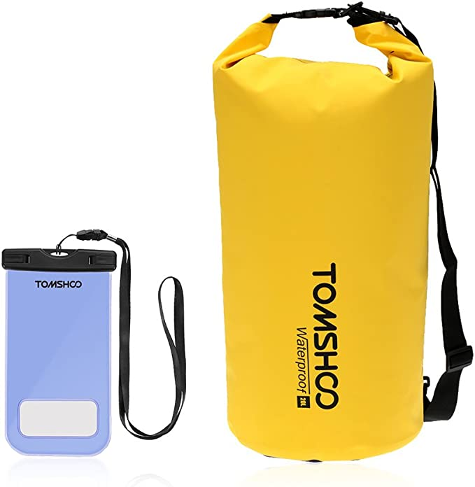 TOMSHOO Bolsas Estancas 10L/20L/40L (10L Amarillo + Caja de Teléfono): Amazon.es: Deportes y aire libre