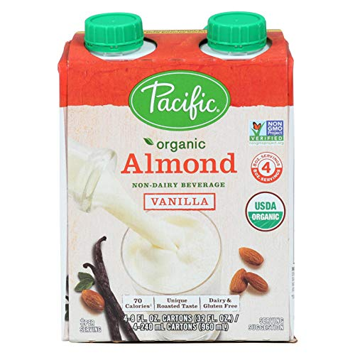 Pacific Natural Foods Almond Vanilla - Roasted - Case of 6 - 8 Fl oz. (Pacific Foods Almond Milk)