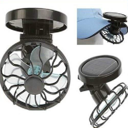 Mini Solar Clip Fan, Flytaker Household Portable Cooling Fans Energy Saving ()