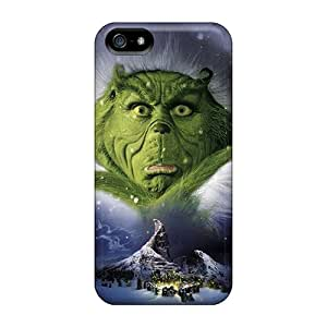 Scratch Resistant Hard Cell-phone Case For Iphone 5/5s With Allow Personal Design High Resolution The Grinch Christmas Image JoanneOickle