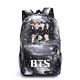 JUSTGOGO Korean Casual Backpack Daypack Laptop Bag Student Bag Book Bag School Bag (4)
