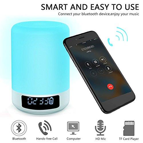 Lamp Touch Led Wireless Acrato Speaker Bluetooth Smart Bedside bfv76yYg