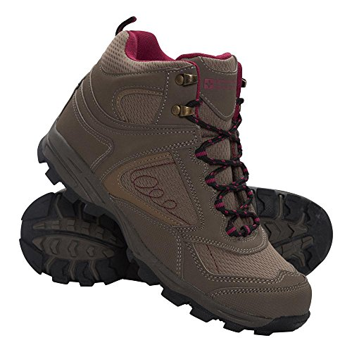 Mountain Warehouse Mcleod Womens Comfortable Boots - Breathable Ankle Boots, Durable Hiking Boots, Padded & Lightweight Waling Shoes - Ideal For Trekking & Travelling Brown