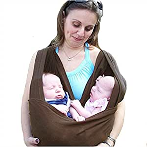 Nava Baby Sling Carrier Baby Twin Toddler Pouch Wraps Carrier Brown