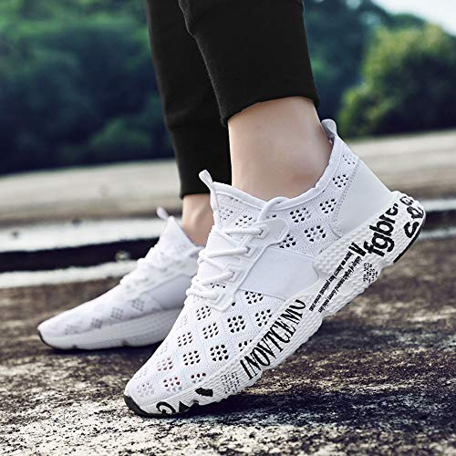 Up Sneakers De Pointu Respirant Lace Sur Hommes Soft vider Sports Slip Gym Course Chaussures Flat Mesh Rawdah Blanc Toe Automne Tide Garon lastiques Running Sole a0667f