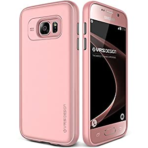 Galaxy S7 Case, VRS Design [Single Fit][Snow Pink] - [Metallic Buttons][Non Slip][Slim Fit] For Samsung S7