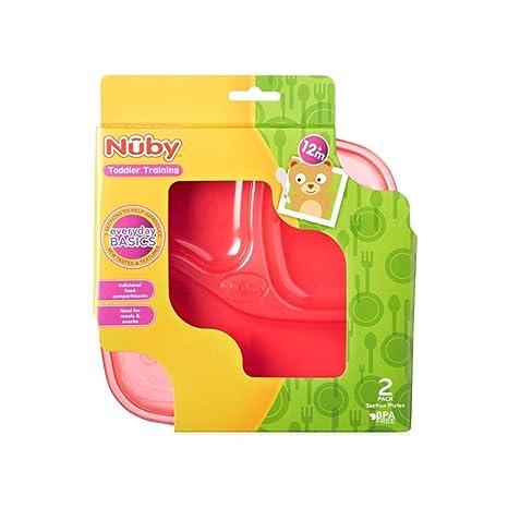 Nuby 91152 Sección Platos (2 unidades), color 12 M + infantil Formación niña