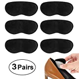 Beautulip Heel Grips Liner for Loose Shoes Adhesive Back of Heel Cushions Anti-Slip Foam Inserts Heel Protectors - Comfortable Insole for Heels Pack of 6 (Black)