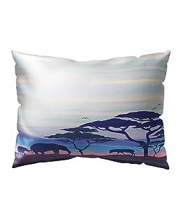 meiyuan Lovely Mother Elephant & Little Elephant Nursery Bedding Pillow Case Throw Cushion Cover Sofa Bed Home Decor 1#