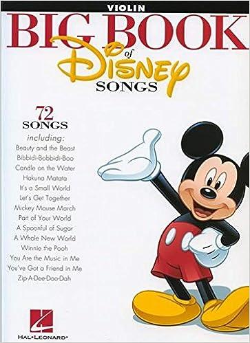 Amazon The Big Book Of Disney Songs Violin 0884088591212