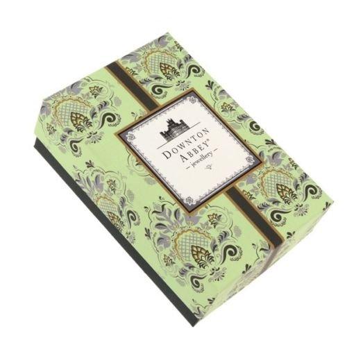 Downton Abbey Argenté Cristal et Perle synthétique-Boucles d'Oreilles Pendantes Femme-17709