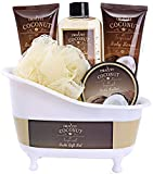 #3: Spa Gift Basket with Refreshing Coconut Fragrance by Draizee – Luxury Bath & Body Set Includes 100% Natural Gel's Lotion's & Much More! – #1 Best Gift Idea for Holiday, Christmas for Men & Women
