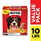 Milk-Bone Original Dog Treats, Cleans Teeth, Freshens Breath, 10 Lb. Box, Medium: more info