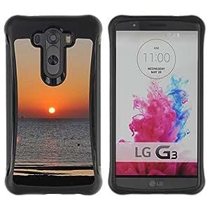 Suave TPU GEL Carcasa Funda Silicona Blando Estuche Caso de protección (para) LG G3 / CECELL Phone case / / Aegean sunset /