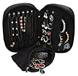 WODISON Multifunction Jewelry Holder Storage Bag Earrings Necklace Bracelet Rings Organizer, Removable Pouch
