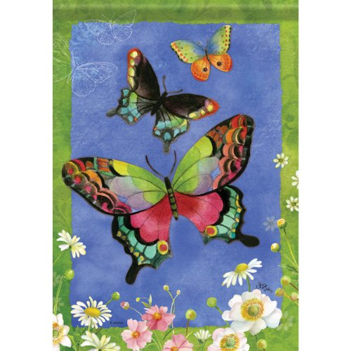 Butterfly Art Trio (Butterfly Trio Garden Flag)
