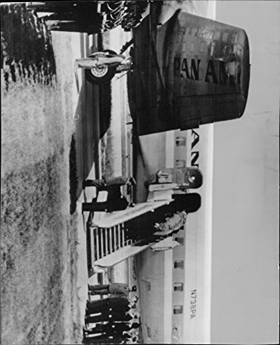 Vintage photo of The coffin with Ambassador Carl Douglas dust arriving by airplane from (Brazil Airplane)