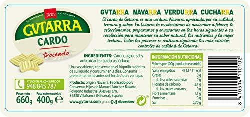 Gvtarra Cardo Verdura - Paquete de 6 x 400 Gramos