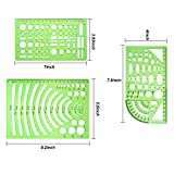 9 Pieces Drawings Templates Measuring Geometric