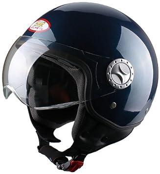 BHR 49820 Demi-Jet Casco, Color Azul Metálico, Talla L, 59-