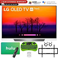 LG 55 E8 OLED 4K HDR AI Smart TV (2018 Model) with Hulu $100 Gift Card + 1 Year Extended Warranty - OLED55E8