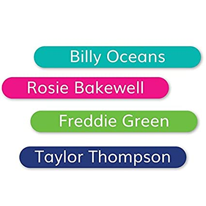Tiny Stick On Labels - premium vinyl waterproof labels ideal for  stationery, toys, kids' school things, tools, pens, camping gear, cutlery  and books