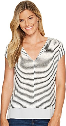Sanctuary Women's City Remix Tee Light Dune/Black T-Shirt (T-shirt City Light Womens)