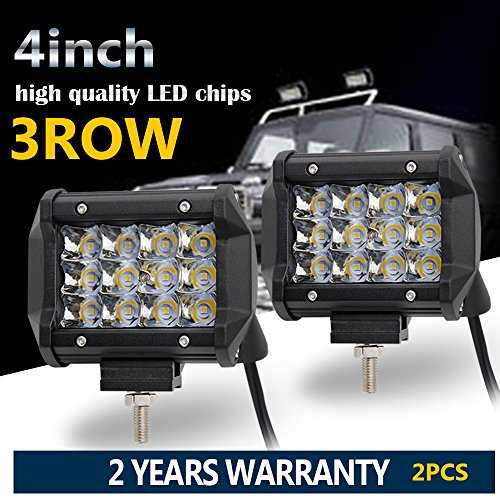 Colight LED Light Bar 4 Inch 2PCS 36W Driving Light Waterproof Cree Chip Three Row for Off-road Truck Car ATV SUV Jeep Cabin Boat,JG-9632-4 inch