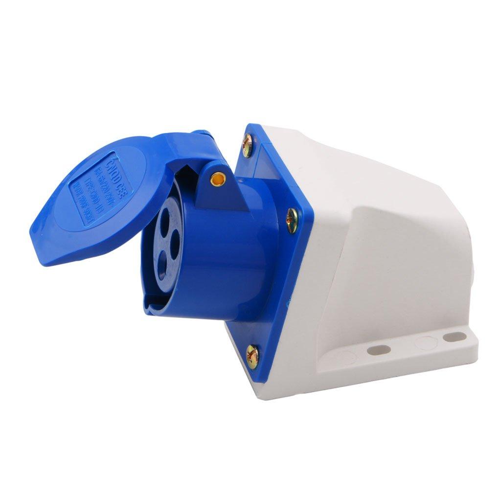 16 Amp 3-poliger Industrie-Stecker Steckdose 220-250 V wetterfest IP44 2P+E 3-Phasen-16 A