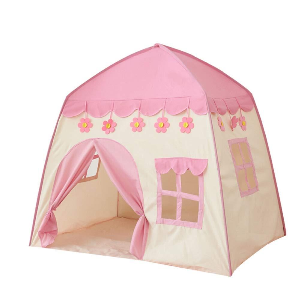 CHEXIAO 子供眠っているテント子供テント赤ちゃんプレイハウスハウスおもちゃ屋内王女誕生日プレゼント女の子小さな城 ( Color : ピンク ) B07Q34Y381