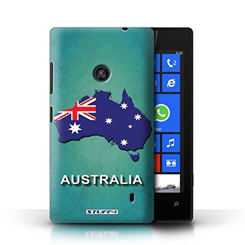 Kobalt® Imprimé Etui / Coque pour Nokia Lumia 520 / Australie conception / Série Drapeau Pays