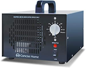 Concise Home Black 10000mg Commercial Ozone Generator Industrial Strength O3 Air Purifier Deodorizer Sterilizer