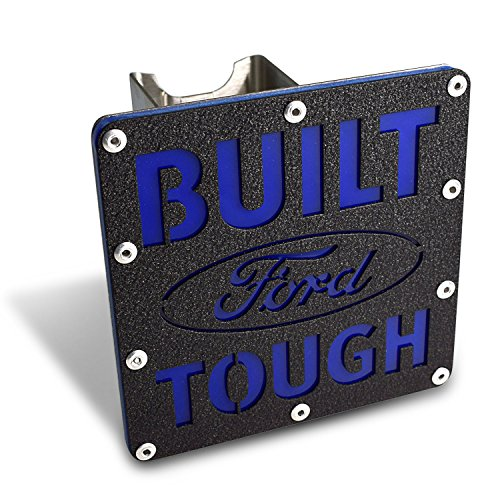 """Cheap Au-tomotive Gold Ford Built Ford Tough 2"""" inch Class III Rugged Style Black Tow Hitch Cover for F-150, SUV, Trucks"""