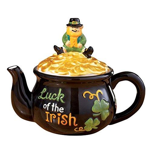 Luck of the Irish Leprechaun Teapot