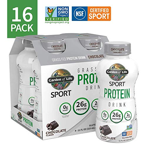 Garden of Life Sport Grass fed Dairy Ready-to-Drink Protein Chocolate, 16 cnt, 16 Count