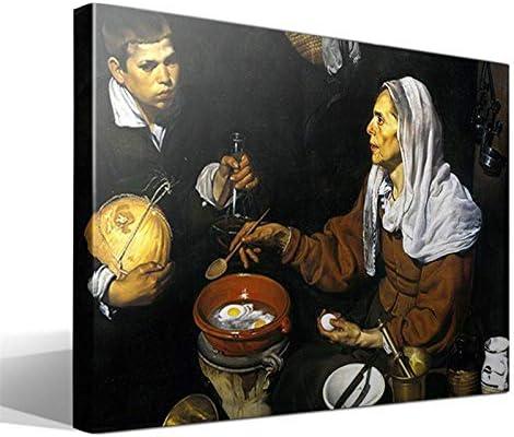 Cuadro Canvas Vieja friendo Huevos de Diego Rodríguez de Silva y Velázquez