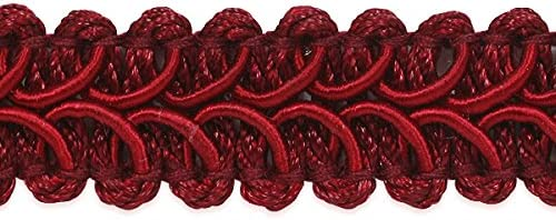 EXP-IR1901 Burgundy 1//2 Alice Classic Woven Braid Trim by 3-Yards