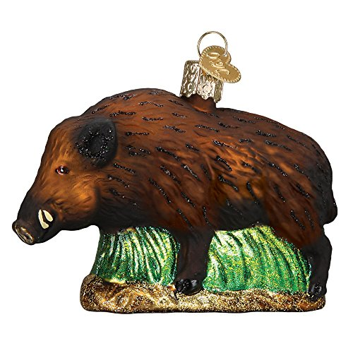 Blown Pig Glass (Old World Christmas Wild Boar Glass Blown Ornament)